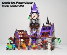 New Scooby Doo Mystery Castle Courtyard Mansion fit legoings Scooby Doo figures model Building blocks bircks 75904 Kid Toy Gift