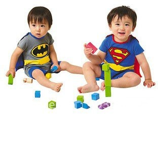 Wholesale and retail newest cotton clothing Superman / batman Baby crawl clothing,kid rompers climb & shawls