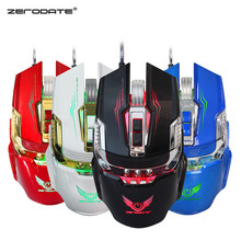 USB Wired Backlight Gaming Mouse 3200 DPI Adjustable Computer Optical LED Game Mice Mouse Gamer For PC Laptop