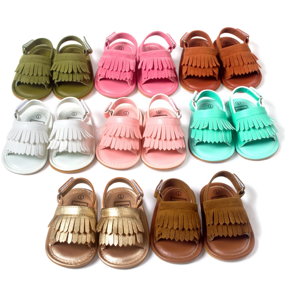 Brand superior Baby girls boys sandals baby Moccasin First Walkers Soft Bottom Non-slip Fashion Tassels Newborn Babe ShoesTX002