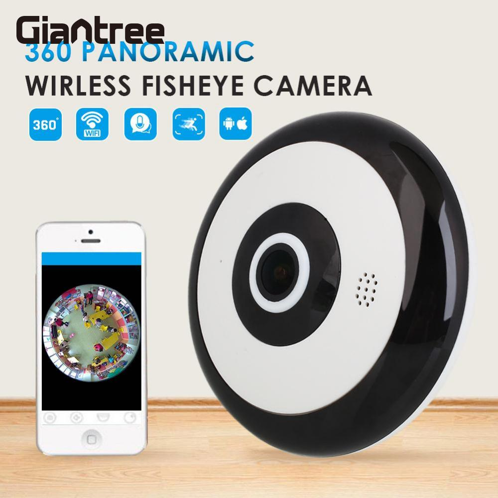 цена на giantree 360 Degree Panoramic Fisheye Panorama Camera HD 1280*960 Wireless WIFI Cam Indoor Home Security Network IP Mini Camera