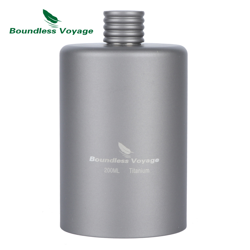 Boundless Voyage Outdoor Titanium Hip Flask Camping Wine Sports Bottle Drink Alcohol Whiskey Ti1579B 8oz hip flask with folding cup