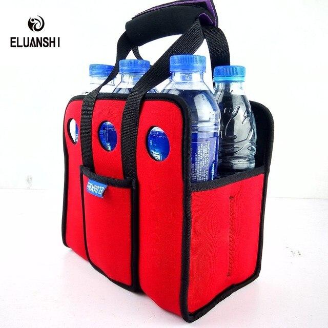 neoprene 6 can Cooler Beer backpack picnic basket bag set Wine box Chillers Frozen wedding Bottle PP outdoor tableware bar lunch