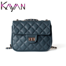 Luxury Caviar Leather Women Shoulder Bag Famous Brand Diamond Lattice Small Flap Real Designer Crossbody