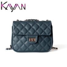 Luxury Caviar Leather Women Shoulder Bag Famous Brand Diamond Lattice Small Flap Real Designer Crossbody