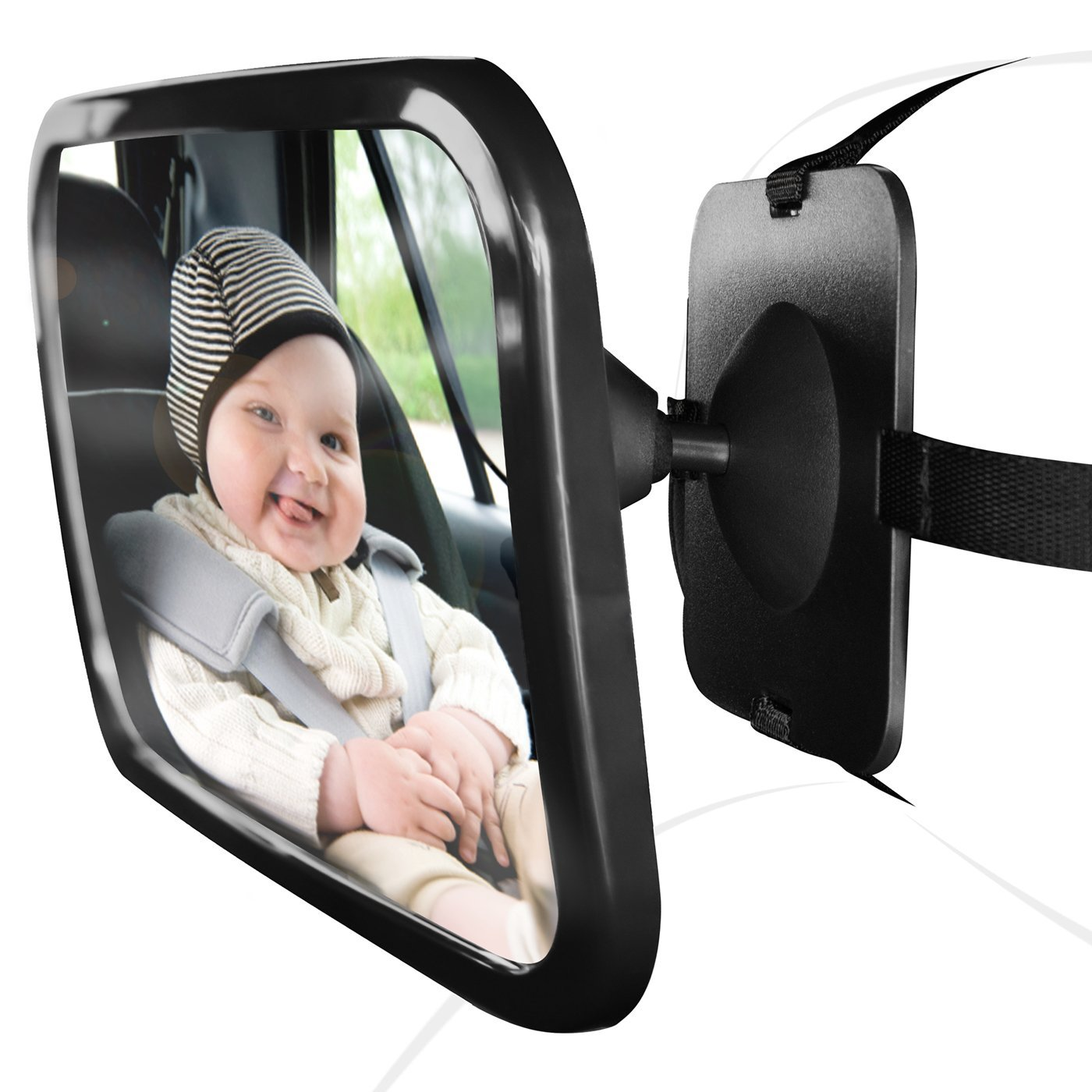 Keoghs 2017 new baby car mirror for rear view facing back seat keoghs 2017 new baby car mirror for rear view facing back seat for infant toddler child in car seat 360 adjustable double fandeluxe Image collections