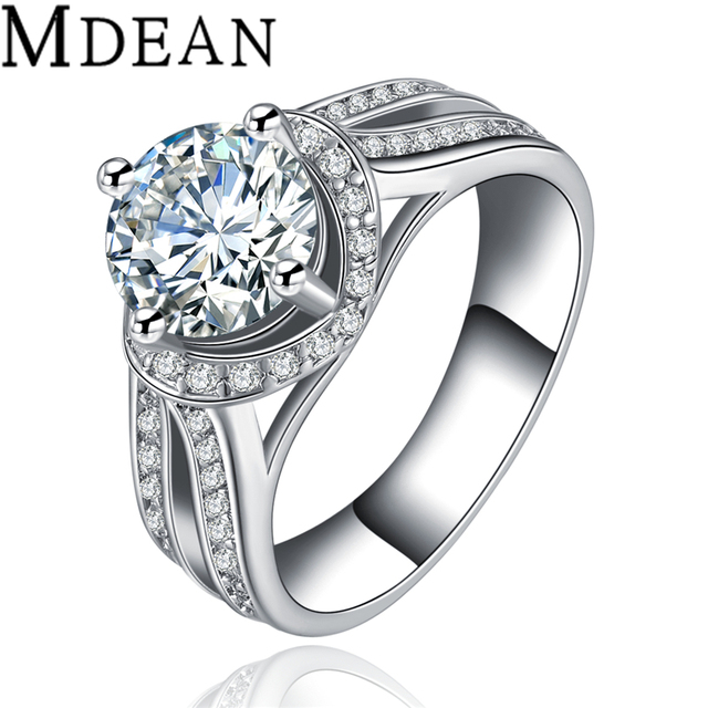 Rings For Wholesale White Cubic Zircon Engagement Wedding Rings For Women Jewelry Accessories bijoux bague femme MSR086