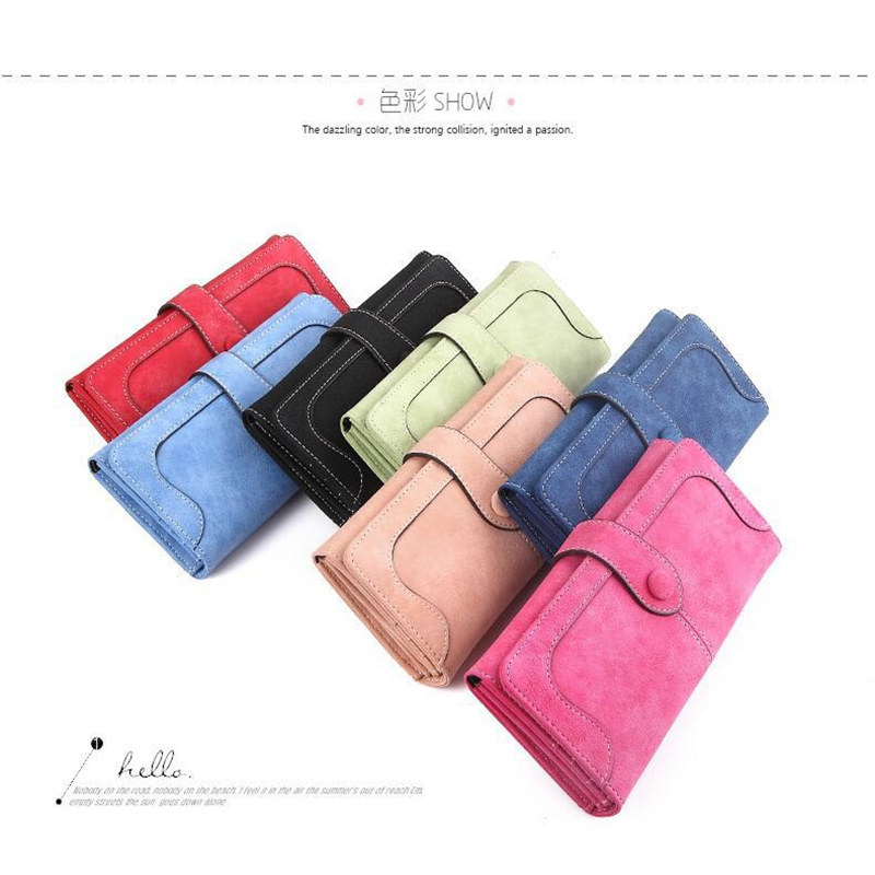 New Arrive 2017 Fashion Retro Matte Stitching Wallet RUO FEI Women Long Purse Clutch Women Casual Dollar Price Wallet Handbag in Wallets from Luggage Bags