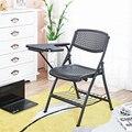 Moda Dobrável Respirável Treinamento de Pessoal Cadeira Conferência Escritório Reunião Cadeira Estudante Cadeira Com Placa de Escrita Portátil
