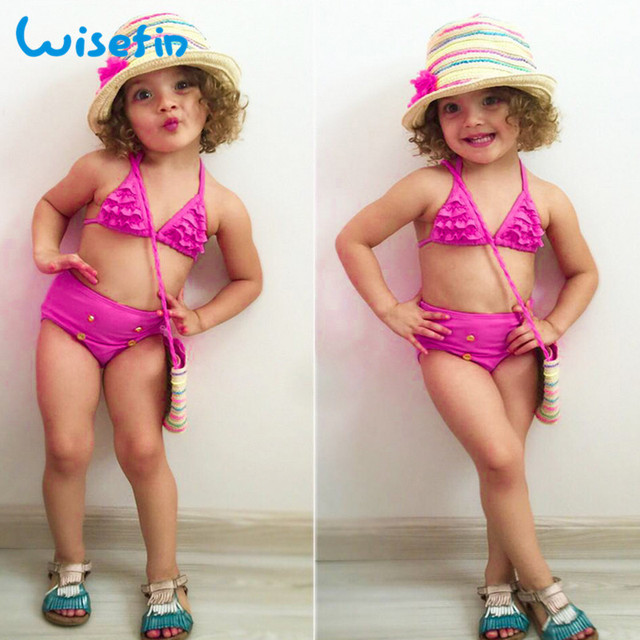 ce8b9401c7 Wisefin Girl Bikini Kids Swimwear Two Piece Baby Girls Swim Set Cute  Children Bathing Suit Ruffle Toddler Swimsuits For Girls