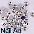 Tamaño grande SS50 144 unids Crystal Nail Art Piedras Con Brillante Para Uñas DIY Arte Decoración de La Boda Y Zapatos