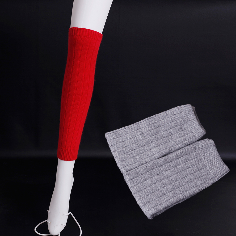 Foreign trade export stripe Leg Warmers Soft wool knitting Knee socks Winter female knitted Leg Warmers Lady Wool boots socks