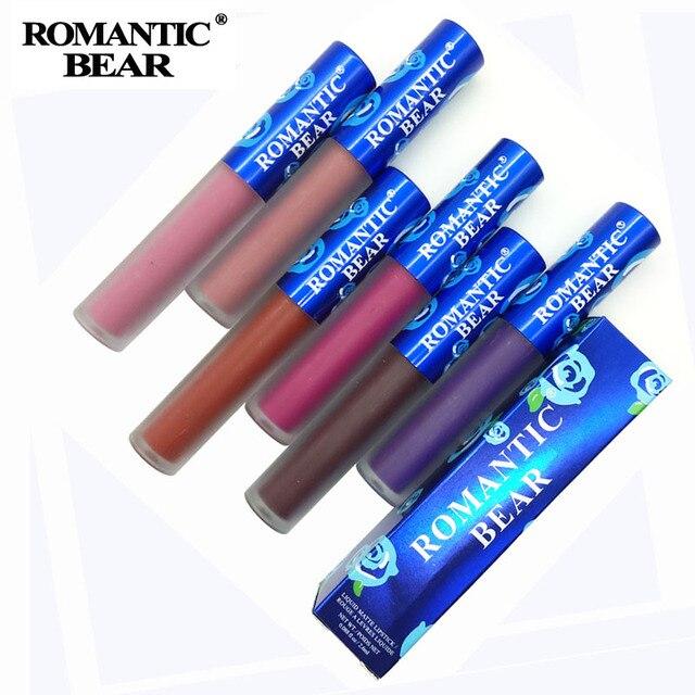 Nuevo pintalabios mate belleza Batom larga duración Labiales rojos mate líquido impermeable maquillaje 12 colores brillo de labios cosméticos