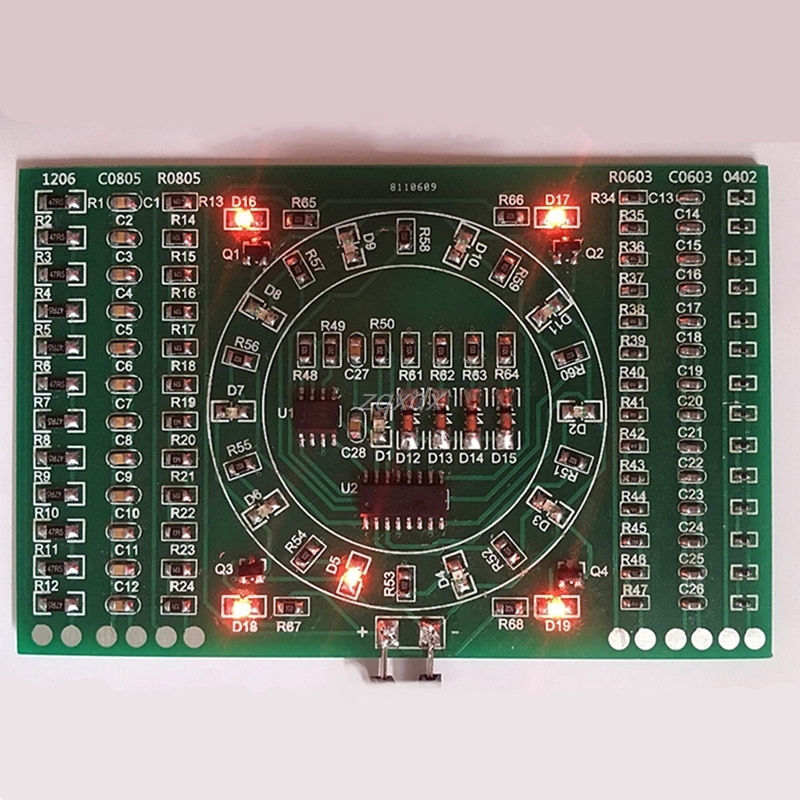 SMD Flashing LED Components Soldering Practice Board Skill Electronic Circuit Z17 Drop ship