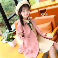 Girl Spring 2018 New Children Long Sleeve Autumn Clothing Long Princess Windbreaker Girls Jackets For Coat Kids Clothes