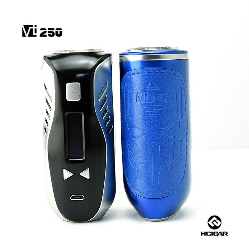 Armazenado Na Rússia Original Hcigar Vt250 Caixa Mod Evolv Dna250 Chip 250w De Alta Potência Caixa De Controle De Temperatura Mod E-cigarro