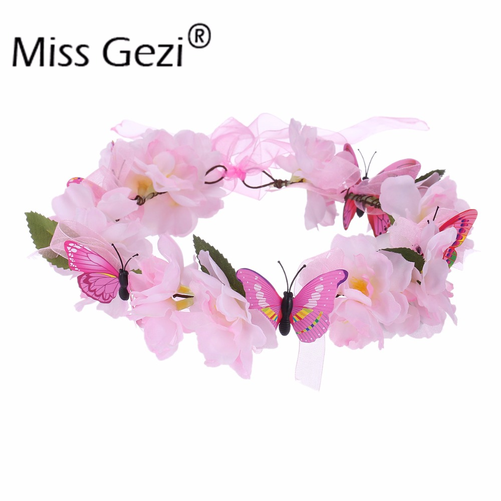 Aliexpress Buy Handmade Fabric Flower Crowns Peach Blossom