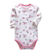 Newborn Bodysuit Babies Baby Girls Boys Long Sleeve One Piece Lovely Print Toddler Infant Clothes(China)