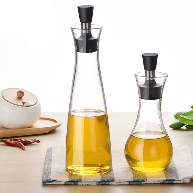 Beau New Kitchen Assistant Health High Borosilicate Glass Oil Dispenser Bottles  Can Cruet Storage With Pourer Spout