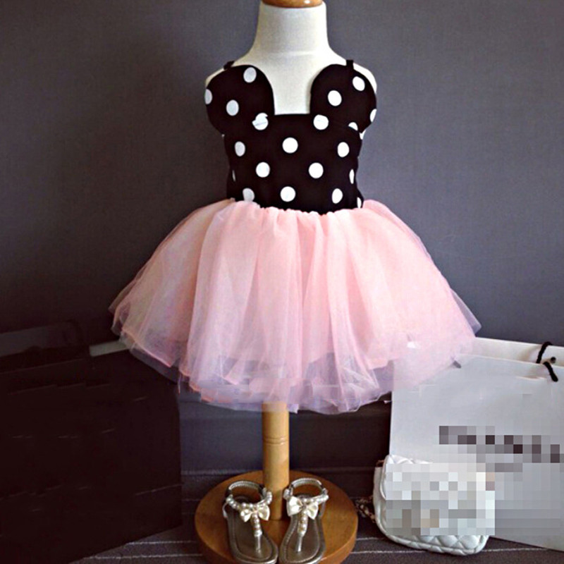 ef8319df9 Baby Girls Cute Dots Summer Clothing Dresses Cute Minnie Mouse Dress Kids  Toddler Ball Gown Tutu Dress Pink 1 2 3 4 5 6 Years-in Dresses from Mother &  Kids ...