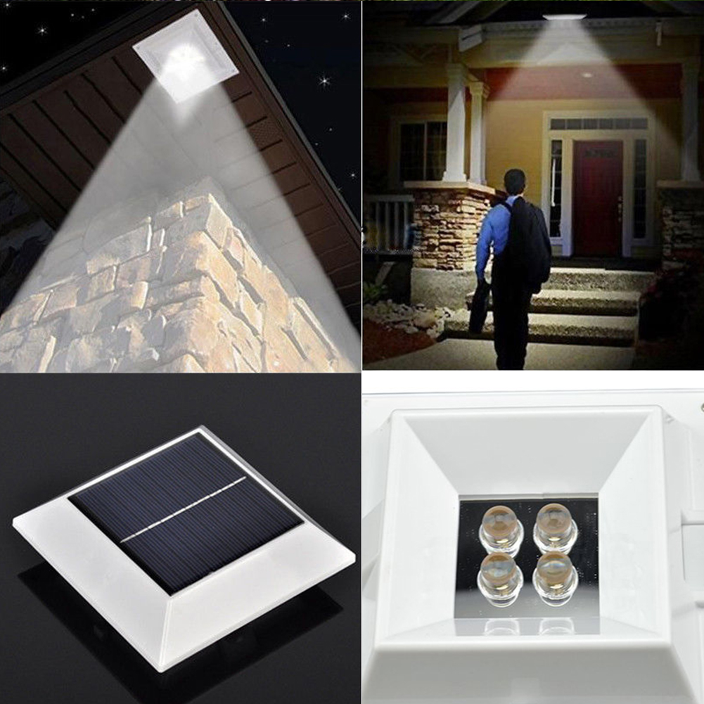 new wholesale outdoor solar powered led gutter light garden yard fence pathway eaves lamp with