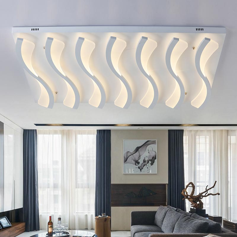 Modern Lustre Acrylic Led Big Ceiling Light Fixtures With Remote Control Living Room Bedroom Kitchen Lamp Decor Home Lighting bedroom living room light lustre modern led ceiling lamp with remote control white black metal decor home lighting fixtures 220v