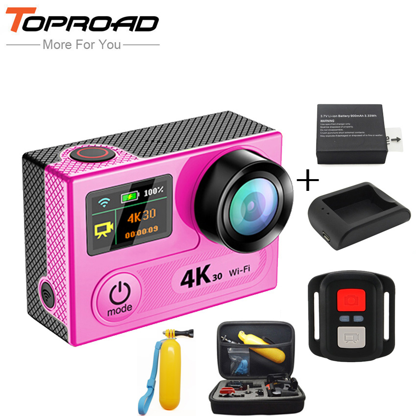 [Battery+Charger+Bag+Floaty] Ultra HD 4K H8R WIFI 360VP Action Cameras 2.4G Remote Mini Sports DVR Video Camcorders Camera Cam