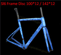 Light Weight SL6 Full Carbon Disk Road Bike Frame CX Road DISC Brake 100*12 / 142*12 Carbon Fiber Road Bike Carbon Frameset