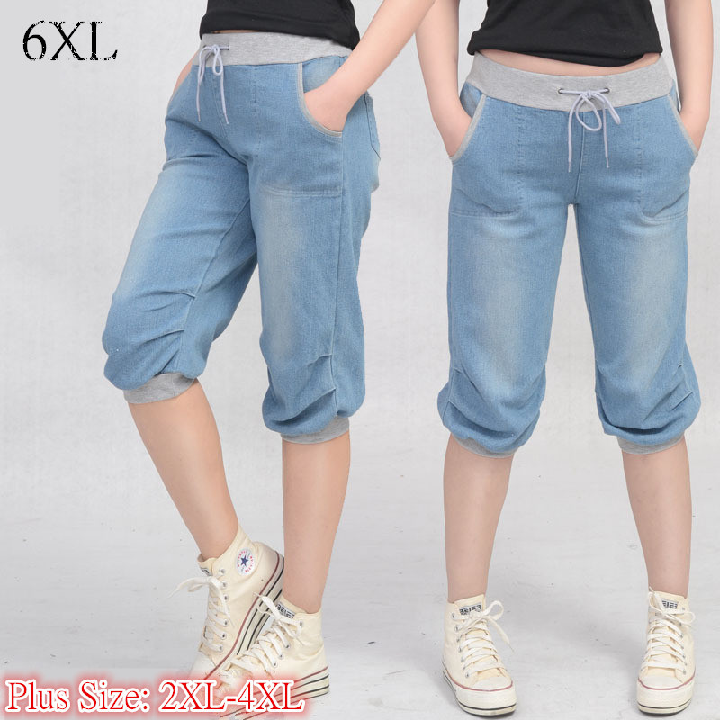 6 EXTRA LARGE Women s Jeans High Waist Jeans pant female Korean version of casual seven