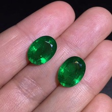 GUILD Cert Jewelry 9.14ct Faceted Vivid Green Natural Emerald Gemstones Loose Gemstones Loose Stone Gems cert