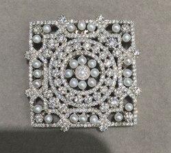925 sterling silber mit kubikzircon und kleine frische wasser perle anschluss für halskette schmuck machen DIY quadratische form