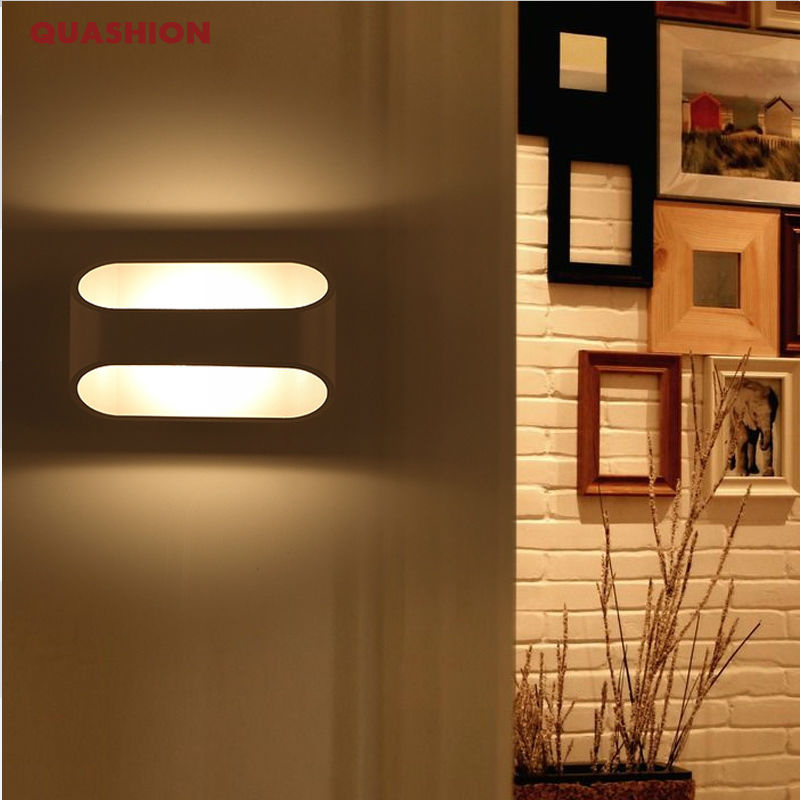 LED Wall Lamps 3W 5W 10W AC85-265V Modern Simple Bedroom Lights Indoor Kitchen Dining-room Corridor Lighting Aluminum Material