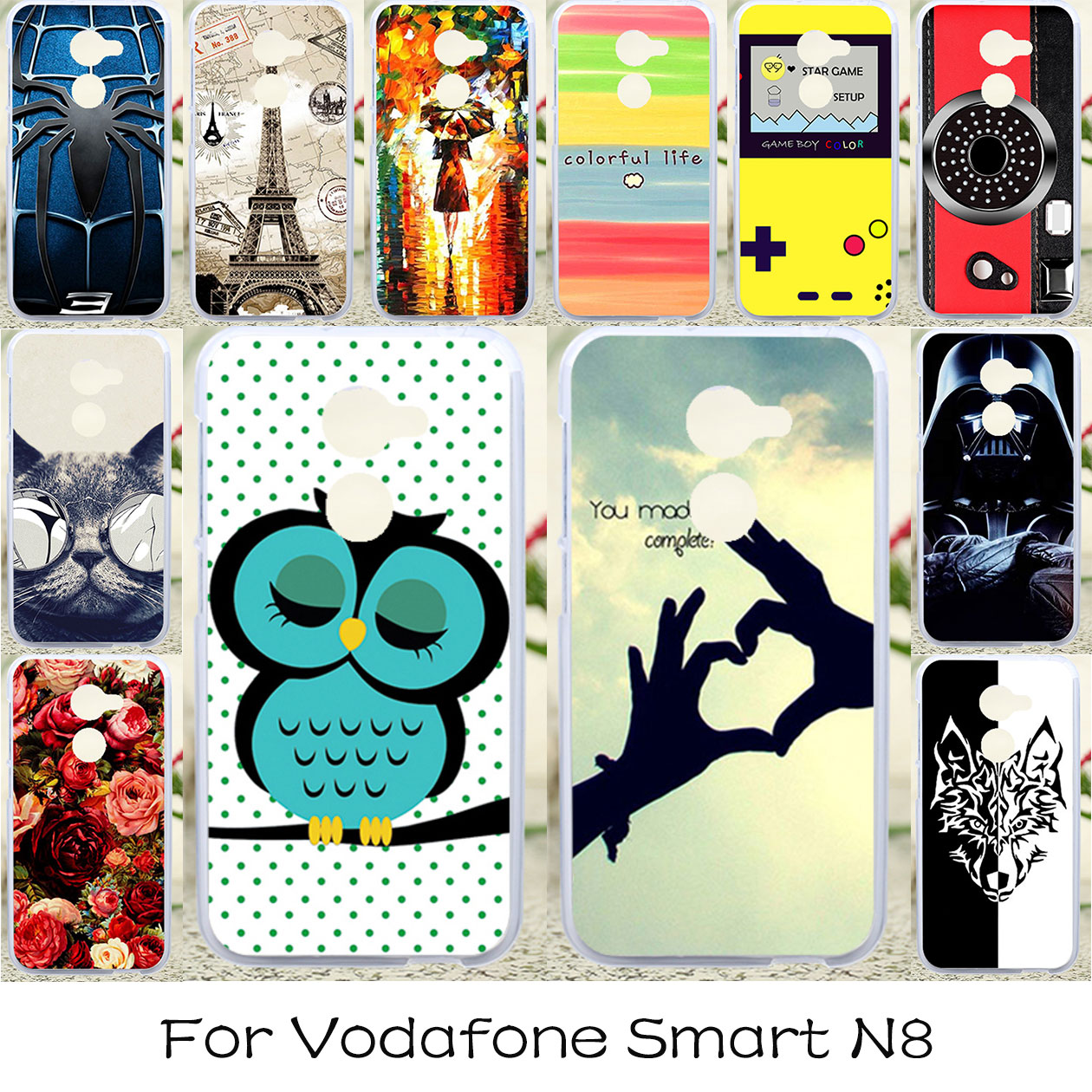 TAOYUNXI DIY Silicone Phone Covers Cases For Vodafone Smart N8 VFD610 5 0  inch Flexible Housing Bag Anti-knock Cover Case Skin