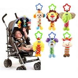 Lindo bebé juguetes suaves musicales recién nacidos juguetes animales bebé cochecito móvil juguetes de peluche muñeca Brinquedos Bebes