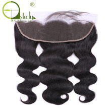 Sterly Brazilian Body Wave Lace Frontal Closure Remy Hair 100% Human Hair 13x4 Ear To Ear Lace Frontal With Baby Hair(China)