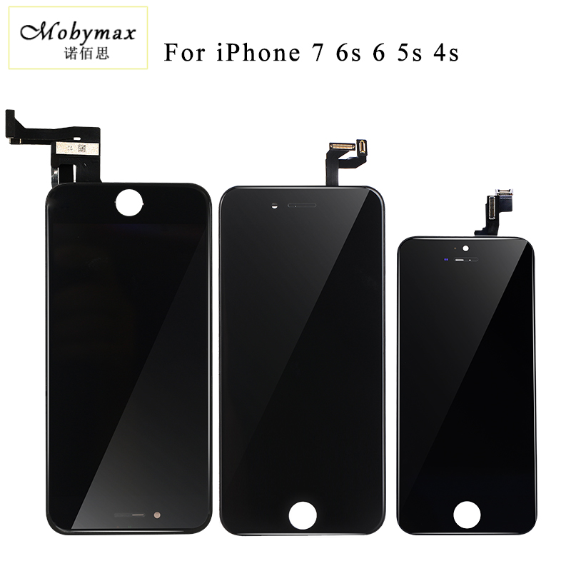 Mobymax Promotion All Test Work LCD Touch Screen For iPhone 7 Display Digitizer Assembly Replacement Black/White+Gift