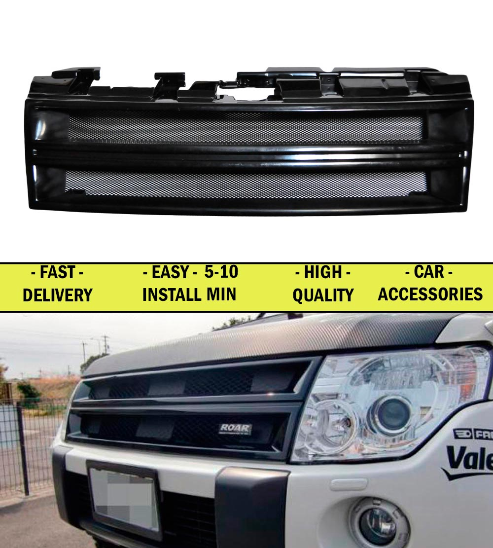 Radiator grille for Mitsubishi Pajero IV 2006-2015 ABS plastic front bump decor design sports styles car styling car accessories