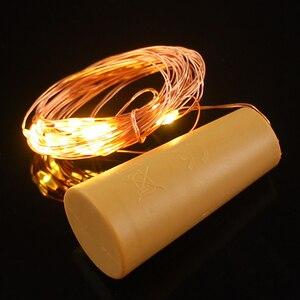 Image 3 - 2M 20 LED Copper Wire String Light with Bottle Stopper for Glass Craft Bottle Wedding Decoration Christmas string lights