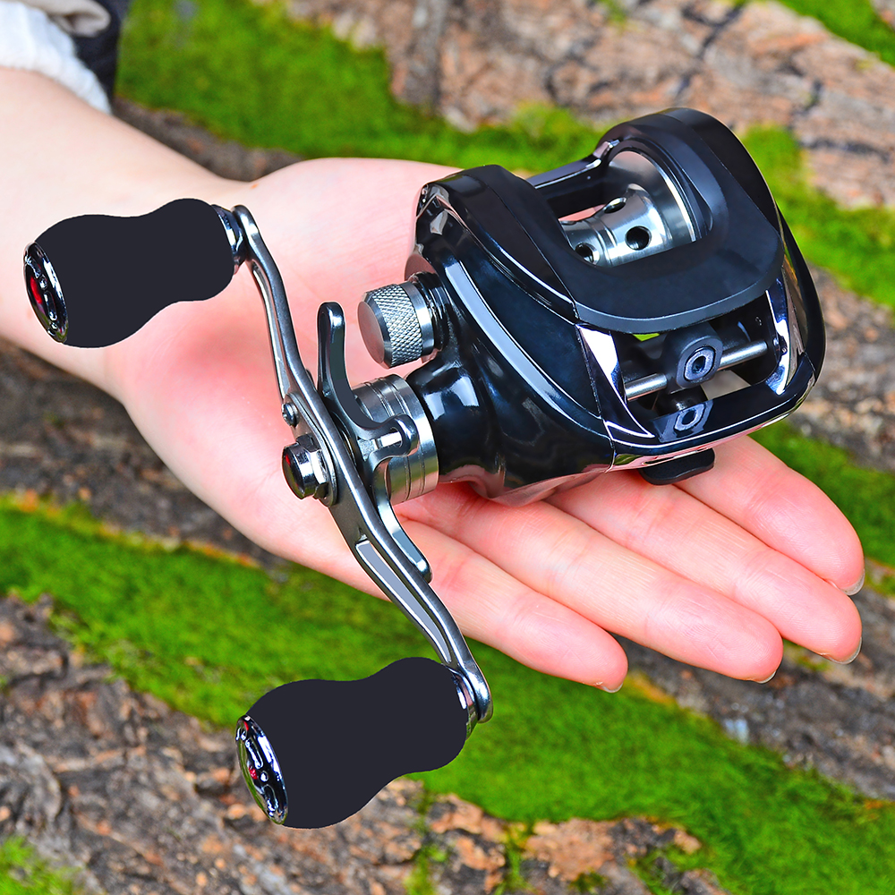 17+1BB Bearing Water Drop Reel Casting Reel Gear Ratio 6.3 :1 Aluminum Spool Baitcast Left-Right Handle 200g Baitcast Reel(China)
