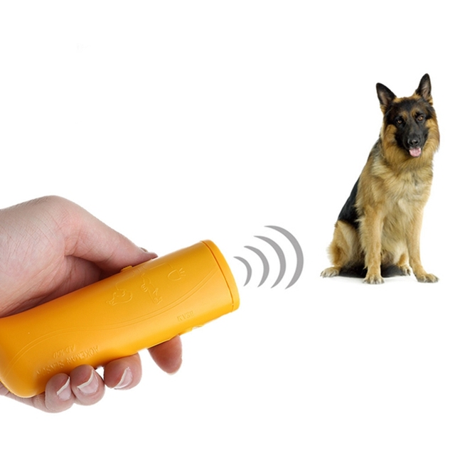 3 in 1 Ultrasonic Anti Bark Stop Barking Dog Training Repeller Control Trainer