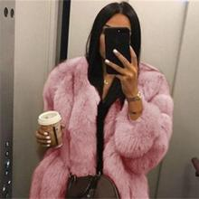 women fur fox coats winter gray 5XL pink fur coat fox  Warm Plush Teddy Coat Brand Fur Jacket Female Thicken Faux Fur Outwear faux fur fox applique sweatshirt
