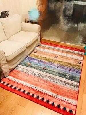 Chambre nordique épaissir les tapis pour salon décor tapis table basse flottant fenêtre pad été ménage antidérapant tapis de sol