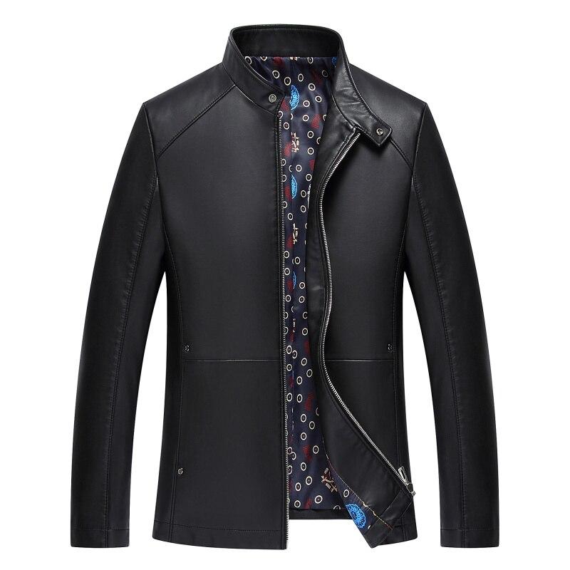 1715 nouvelle mode hommes automne vêtements homme printemps veste moto vestes hommes en cuir veste mince manteau - 4