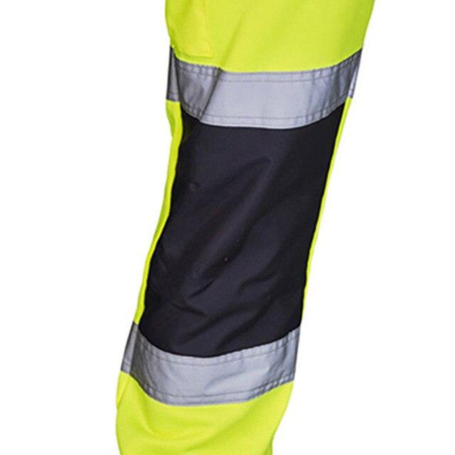 Sweatpants Men Road Work High Visibility Overalls Pocket Work Casual Trouser Hip Hop Streetwear Pantalon Homme 5