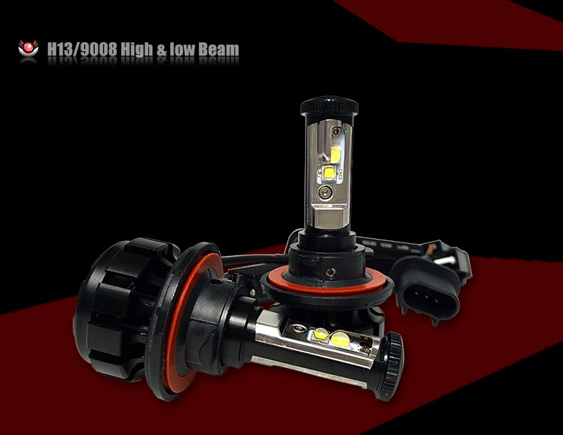 12000LM Super Bright Car LED Headlight Kit H4 HB2 9003 H13 9007 Cree Chips Replace Bulb Anti-Dazzle Beam 3000K 4300K 6000K (4)
