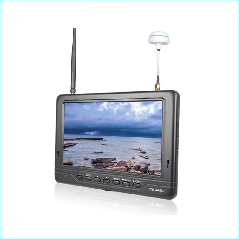 FPV718B 7IPS FPV Monitor 1024x600 Dual 5.8G 40CH Diversity Receiver Black Feelworld Hdmi Monitor Easy Operation LCD Monitors