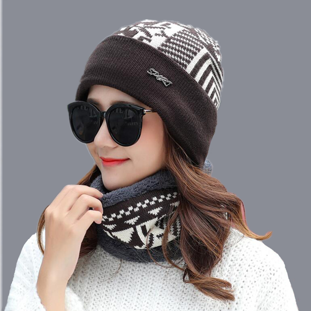 jiangxihuitian Balaclava Knitted hat scarf cap neck warmer Winter Hats For Men women   skullies     beanies   super warm Fleece cap