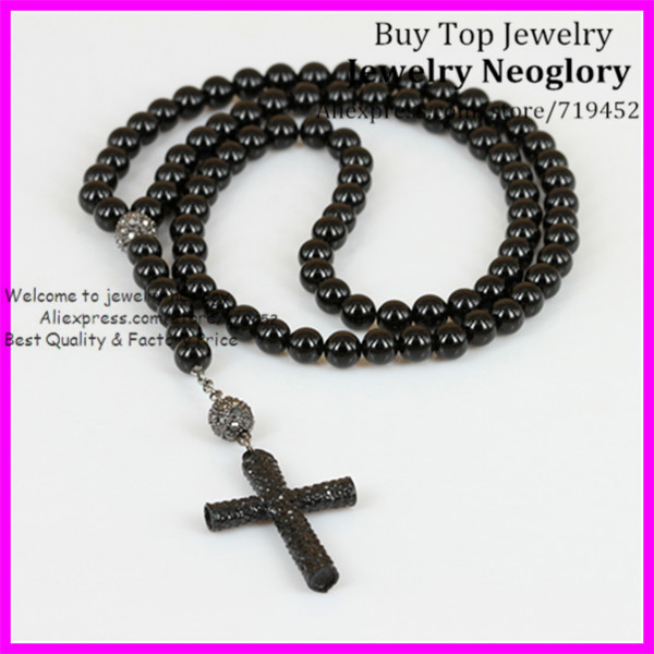 5pcs black onyx stone cross necklace religious men necklace 5pcs black onyx stone cross necklace religious men necklace crystal cross pendant necklace aloadofball Images