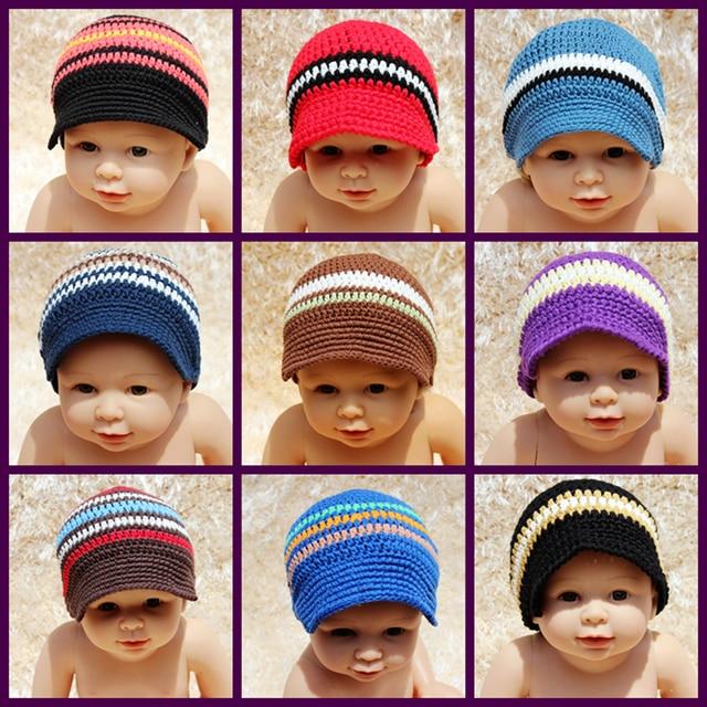 be86513135b Newborn Boy Coming Home Outfit Baby crochet visor beanie cap newborn  photography props knitted crochet baby boy duck hat
