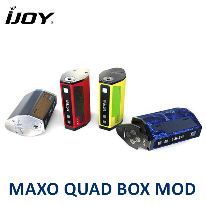 IJOY MAXO QUAD 18650 315W Box Mod Vape Temperature Control Firmware Electronic Cigarette Vaporizer (No Battery) IJOY MAXO QUAD original electronic cigarette mod vape pen smoant charon 218w tc box mod mechanical mod leather cover free shipping
